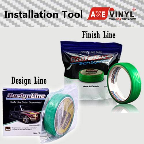 Axevinyl Car Wrap Vinyl Tool Knifeless Tape Finish Line and Design Line for Vinyl Cutting