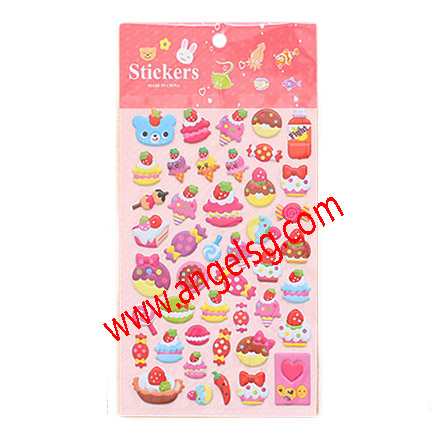 Foam Sweet Cakes Food Toy Mobile phone Stickers