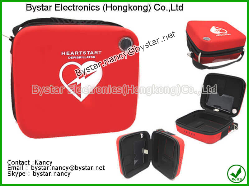 AED defibrillator soft carrying case medical protective case hard EVA anti-shock case