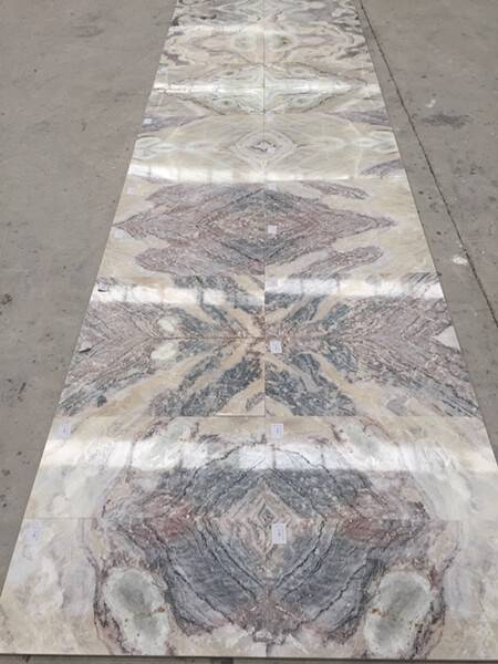China White Marble Bookmatched Tiles (Cut To Sizes) - Dream White