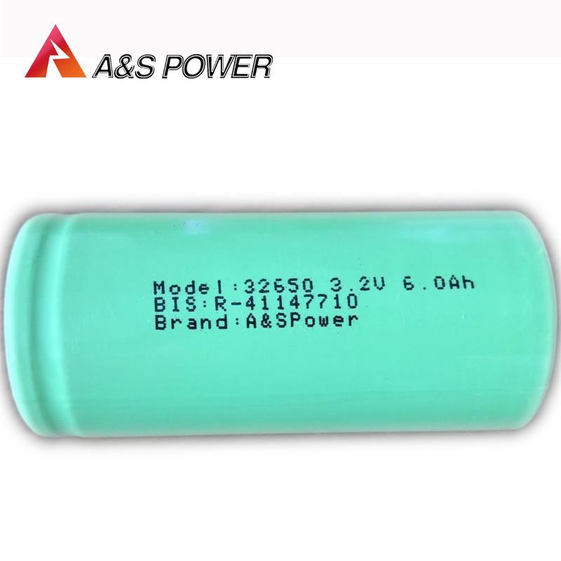 32650 LiFePO4 Rechargeable Battery 3.2V 6000mAh Lifepo4 Battery Exporter
