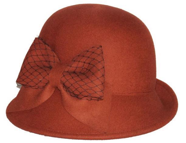 Ladies100% Wool Felt Winter Bowler Bucket Hat