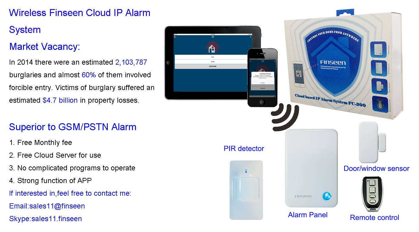 Latest Home Security System-Finseen Cloud IP Based Alarm System