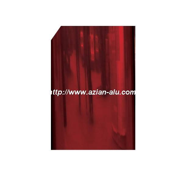 PE/PVDF Red Color Mirror Aluminum Sheet metal for Kitchen Decoration 0.48mm 1060 H18