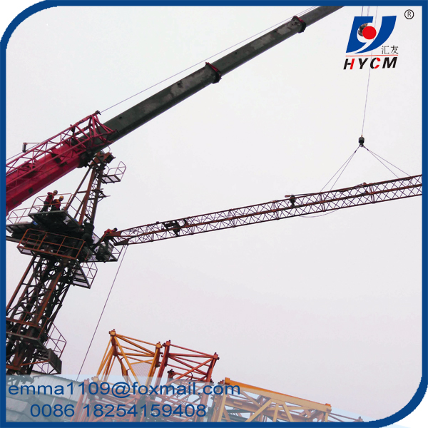 6t D2520 Mini Luffing Jib Tower Crane 25m Boom Construction Buildings