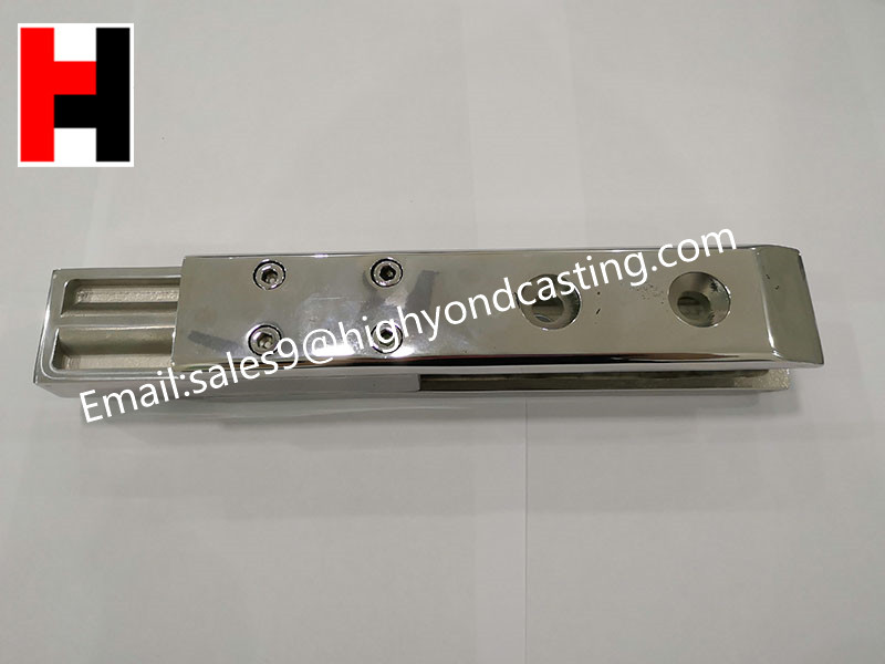 Supply from stock investment casting stainless steel clamp glass