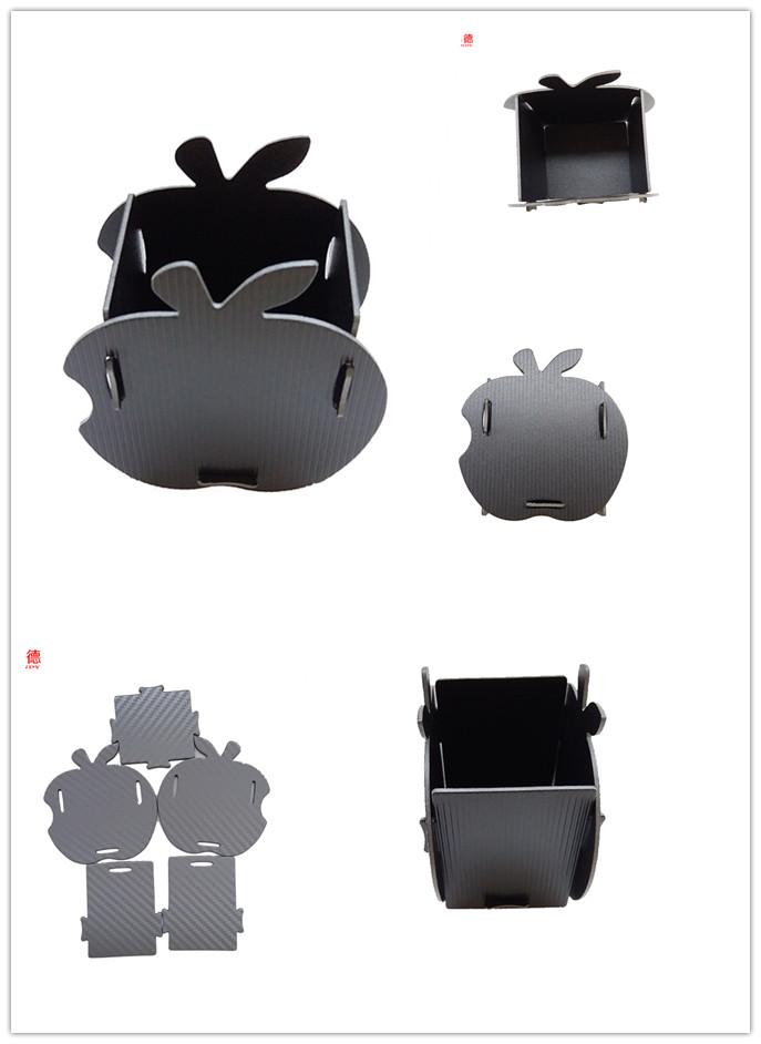 DIY Customized Design Wholesale PP Foam File Folder Material Decorative Apple Shape Pen Holder