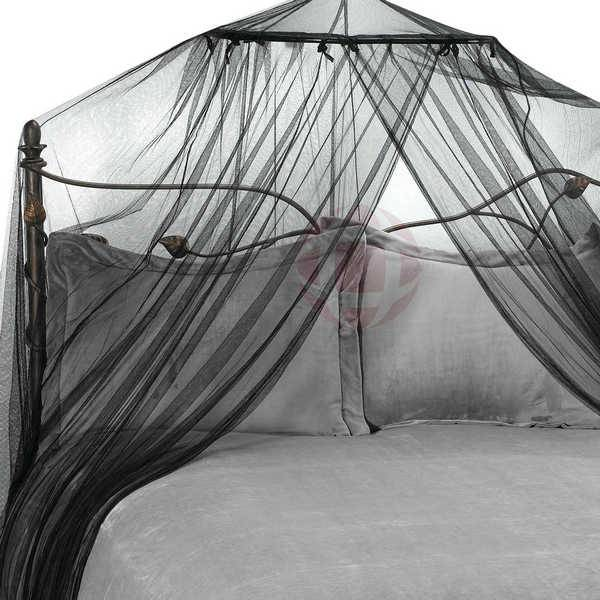 Bed Canopy And Mosquito Net In Black