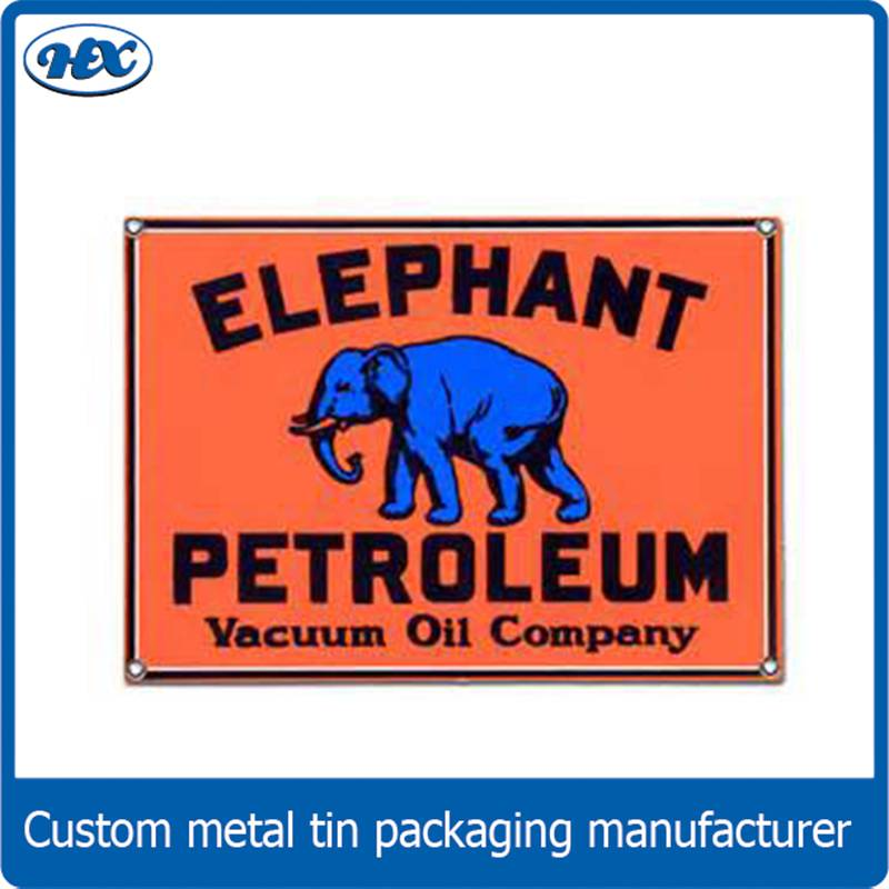 Custom metal devor tin sign