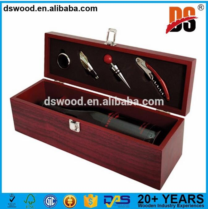 Custom new product packaging wooden wine box