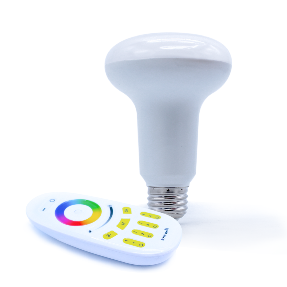wireless 9w led mushroom bulb, 2.4g wifi rf remote control par30 light, rgb color changeable led lig