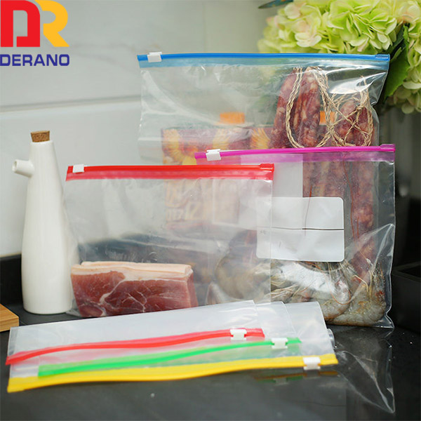 LDPE custom eco-friendly printed plastic slider bag