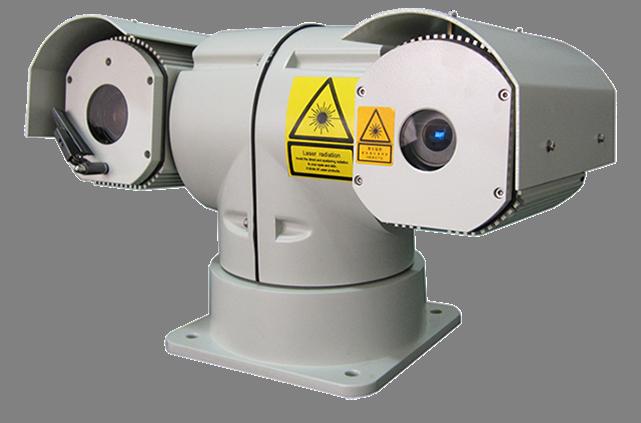 T-shape Night Vision Infrared Laser PTZ Camera