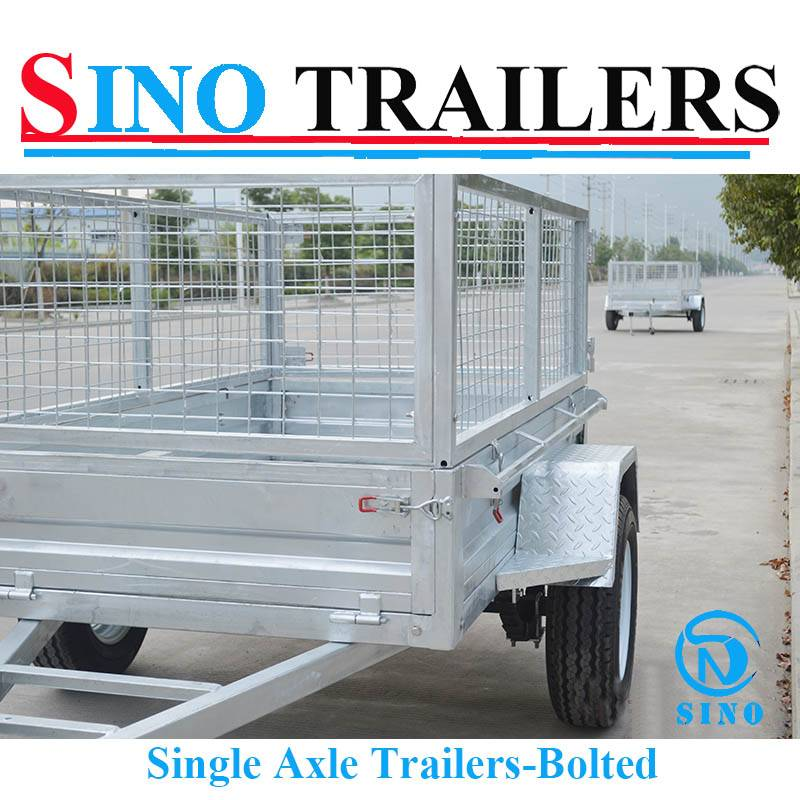 8X5 Single Axle Bolted Cage Trailers