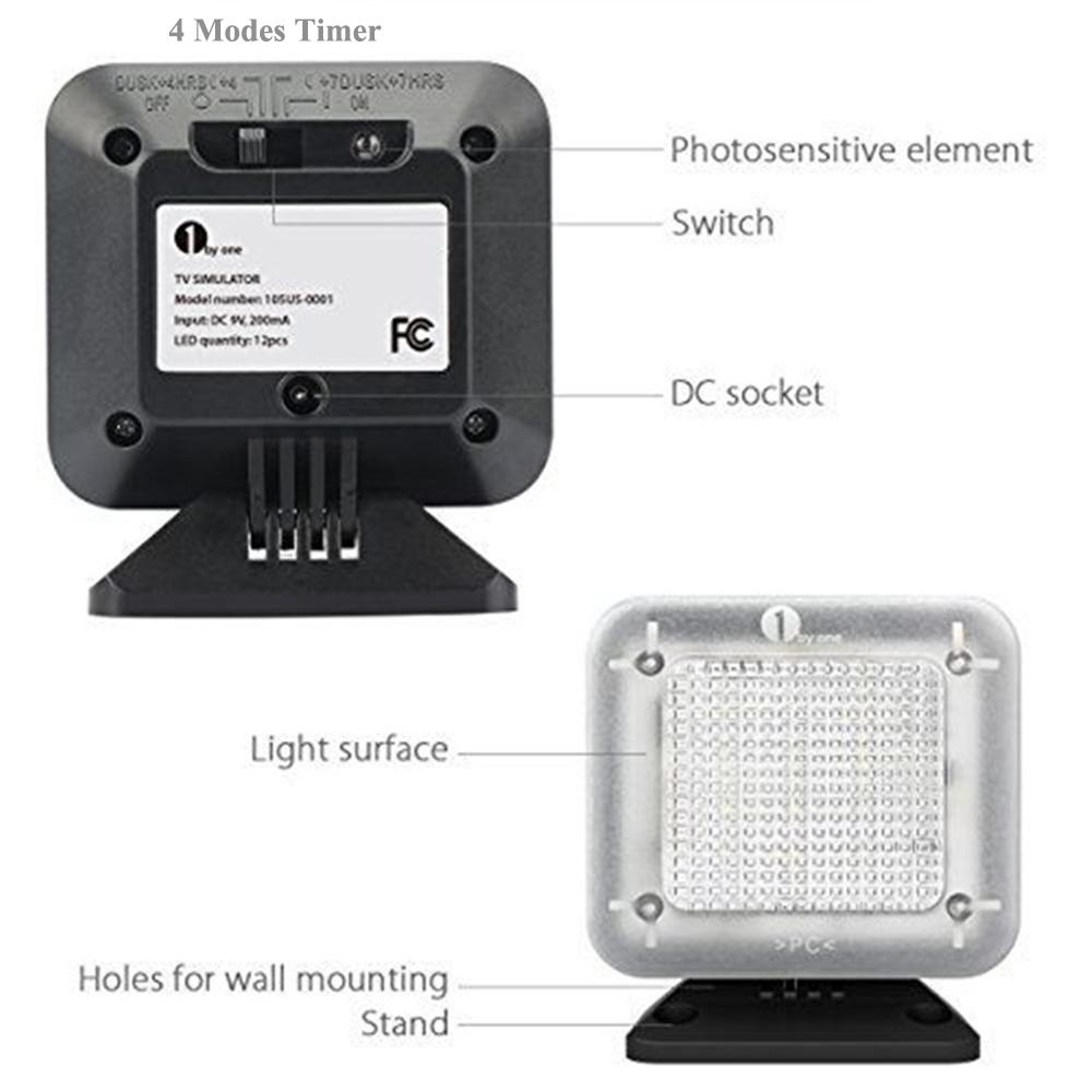 Fake TV Burglar Deterrent TV Simulator LED Light for Home Security with Timer