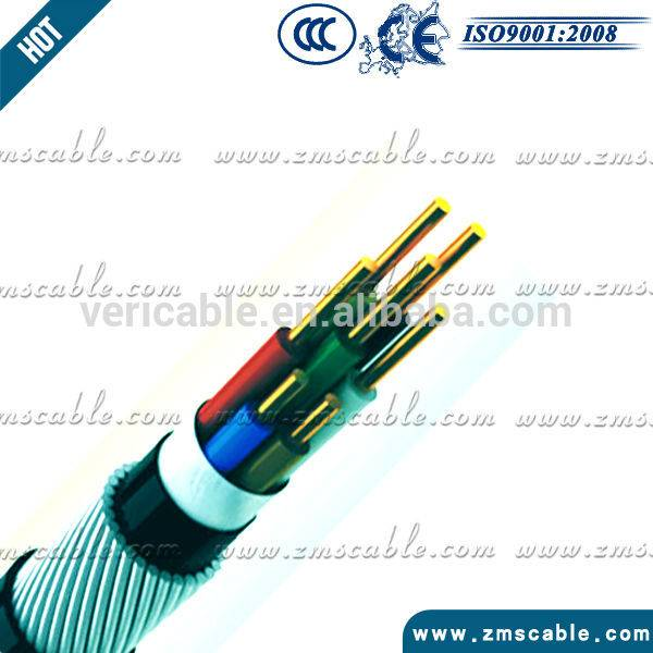 600/1000V 7 cores leadsheath swa amour cable instrument