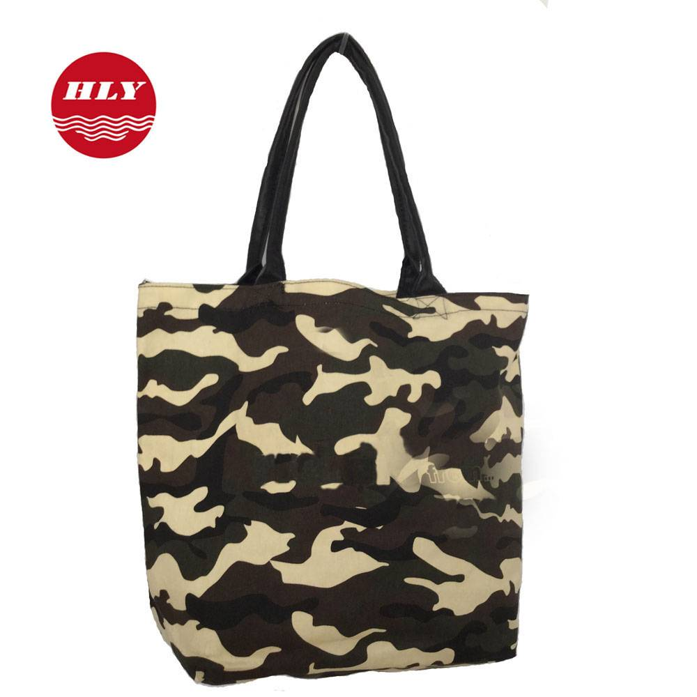 2015 New style Camouflage Canvas Shopping bags