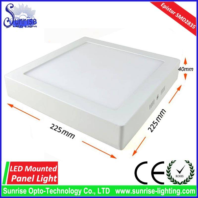 18W square mounted LED ceiling light