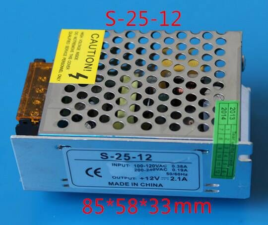 LED tape lights power supply DC12V 10A 120W transformers non waterproof LED Switching Power Supply