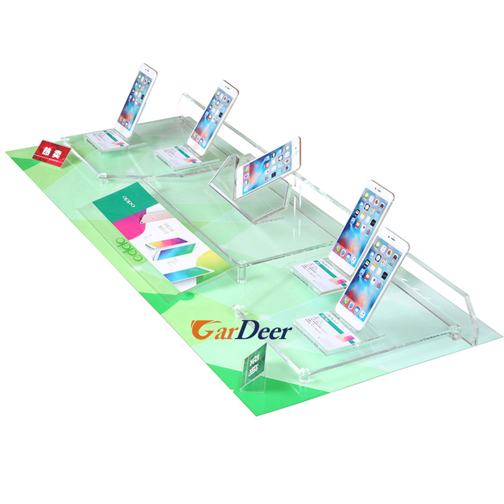 China hot sale multifunctional cell phone crystal display rack for oppo store