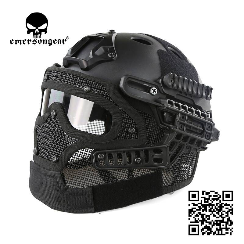 G4 System PJ Helment+Full Mask with NVG Mount