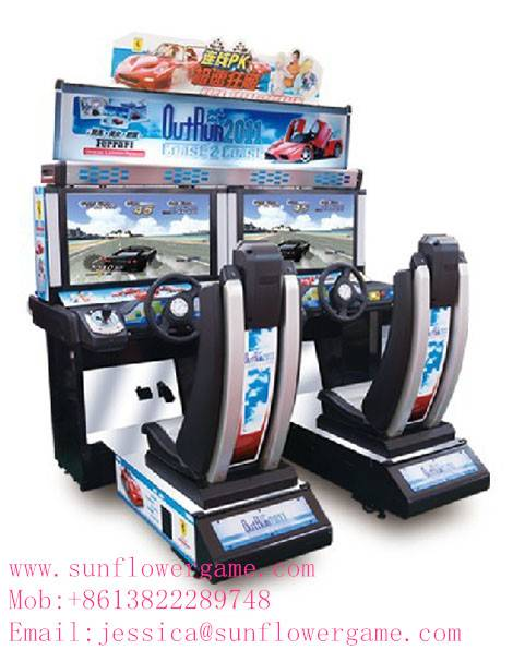 simulator racing car arcade machine