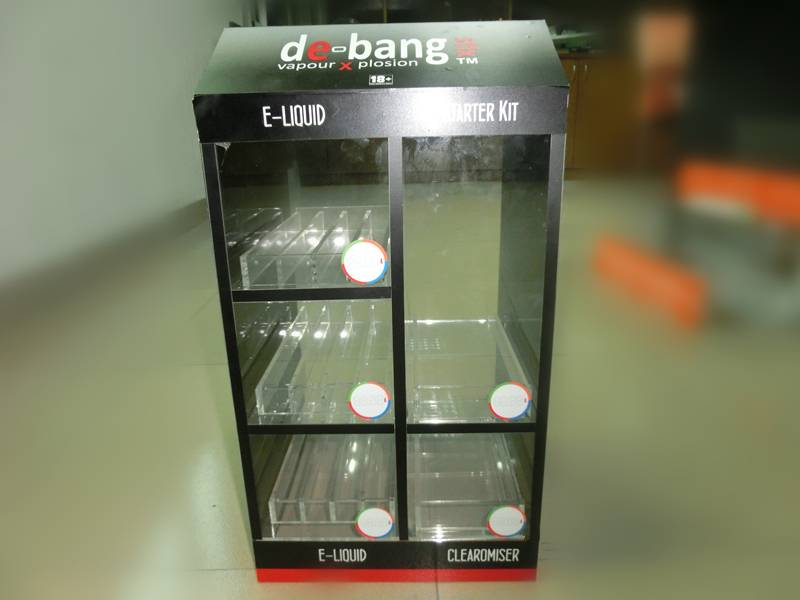 Personalized Acrylic e-cigarette display/e-liquid display case