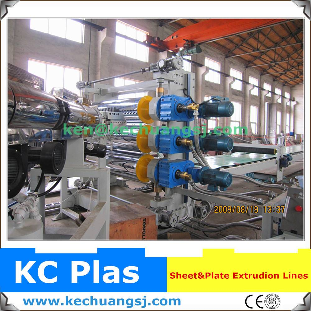 Plastic sheet making extrusion line