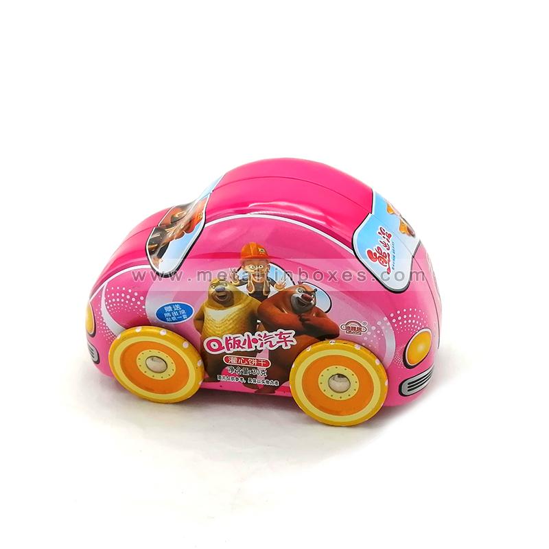 Little car shape tin box tin toy car for kids