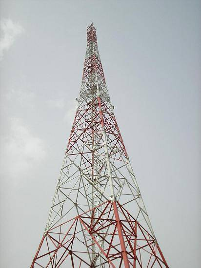 120meters telecommunication lattice steel tower