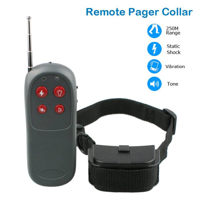 Universal 250 Meters Remote Pet Dog Bark Control Training Controller Vibra Training Collar with LED