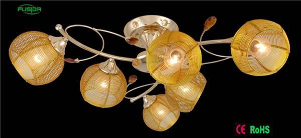 High quality metal pendant lamp aluminum wire ceiling light X-9420/6
