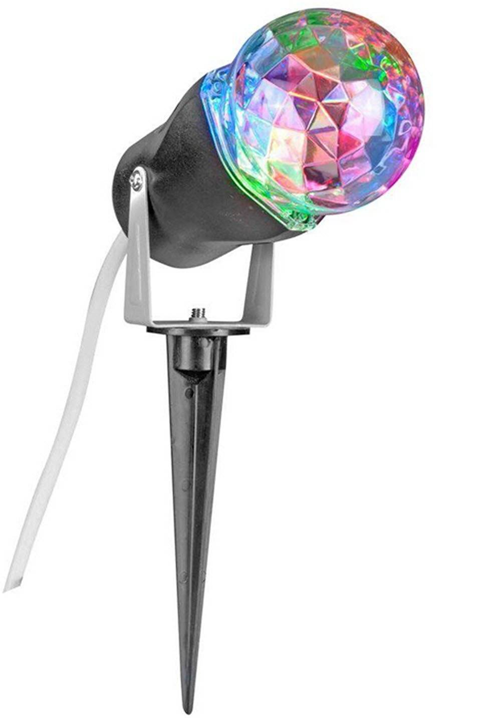Lightshow Kaleidoscope Colors Projection Stake Holiday Spotlight Light for Christmas