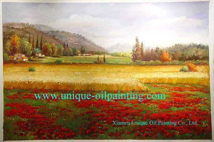 oil painting, scenery oil painting, 100% handmade oil painting