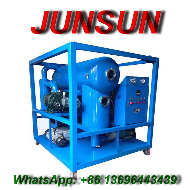 Double-Stage High Vacuum High Voltage Transformer Oil Filtration and Regeneration System
