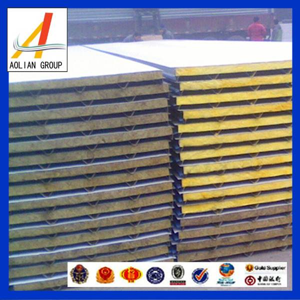 High quality fireproof rock wool sandwich panel