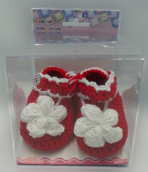 Wholesale - crocheted Newborn baby shoes high quality from THAILAND