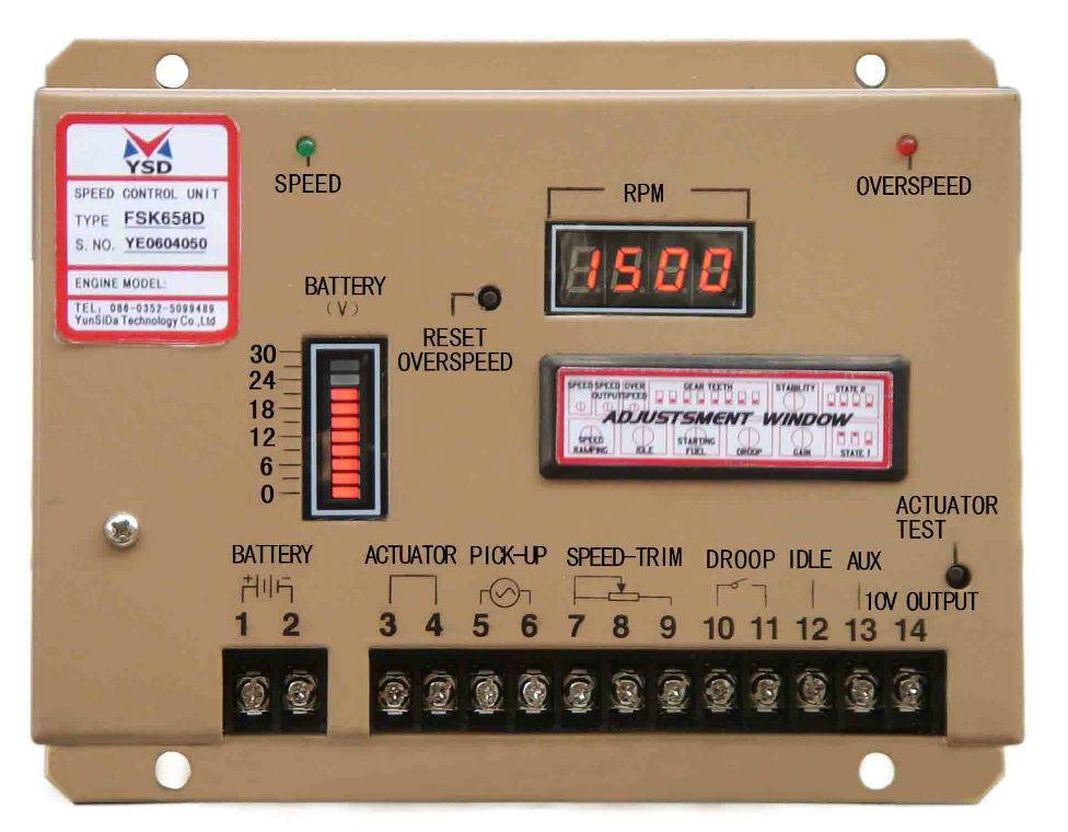 Engine Generator Parts Digital Speed Controller-Fsk658d Generator Electronic Governor