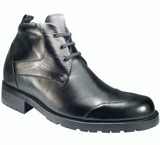 9805 - height increasing boots-Leather boots for men