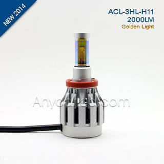 3HL 2000LM H11 LED Light Bulb DC12-24V with CE,RoHS