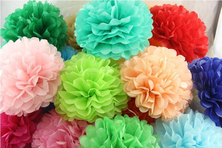 Hanging Wedding Party Decoration Paper Flower Tissue Paper Pompoms