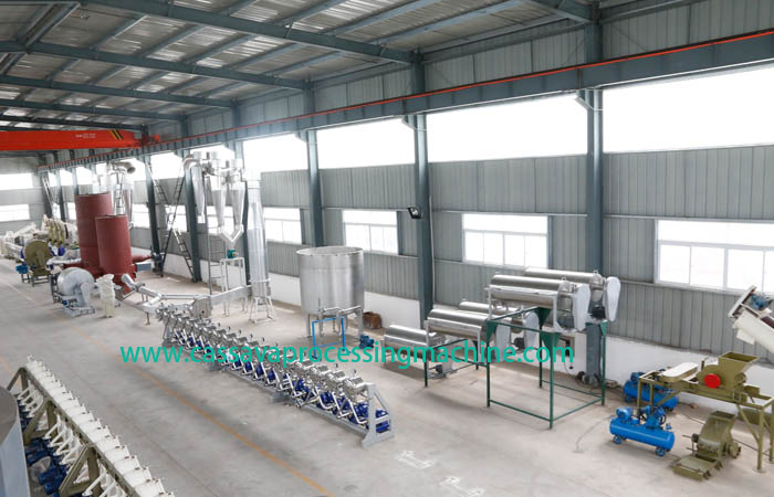 Complete cassava starch processing machinery