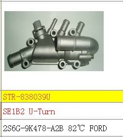 Thermostat and thermostat housing use for 2S6G-9K478-A2B FORD
