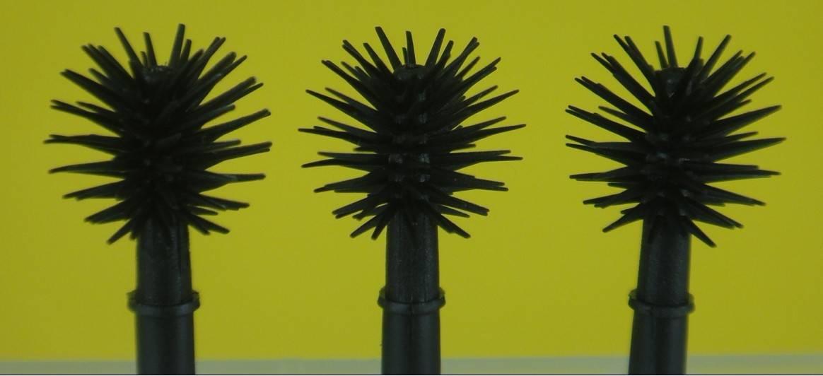 Professional Nylon Silicone Plastic Love Alpha Eyelash Eyebrow Mascara Brush Head Tip Packing QZ-O