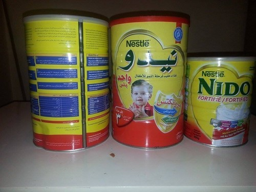 Arabic Text Red/White Cap Nido Milk powder