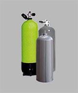 Diving gas cylinder