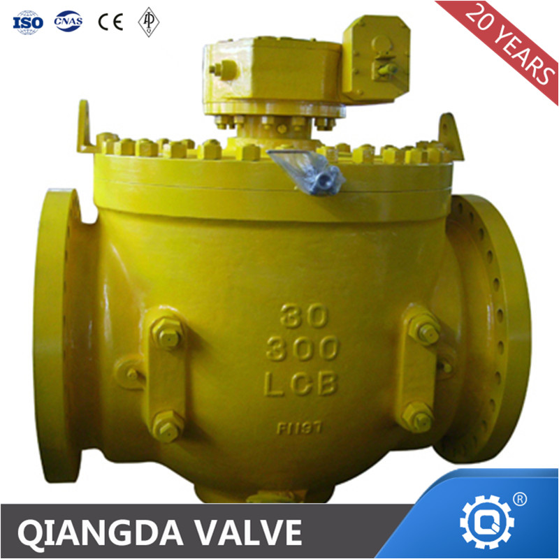 top mounted flanged top entry ball valve