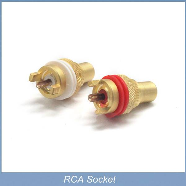 Pure copper RCA female Panel Mount plug