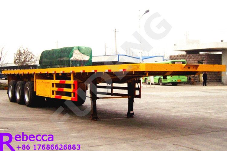Cheap price 3 axle 40 ft flatbed semi trailer for sale