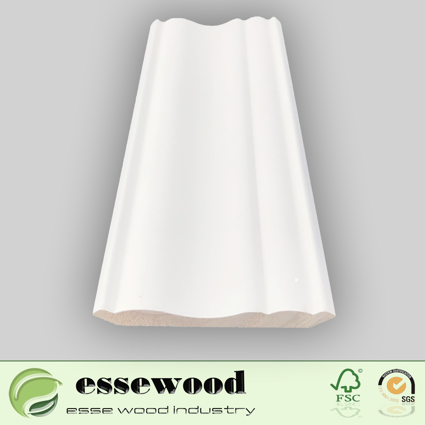 Finger Joint Wood Casing Gesso Surfaced Ceiling Moulding Crown Moulding